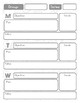 Reading/Math Workshop and Student Data Binder Organization Forms