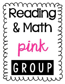 Reading, Math, Writing Group Binder Labels