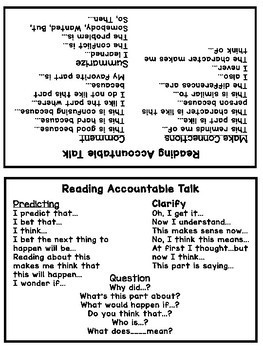 Reading, Math, and Textual Evidence Sentence Frames