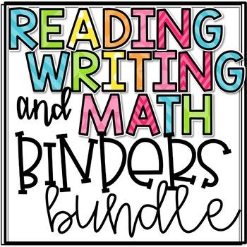 Reading, Math, and Writing Binder Bundles