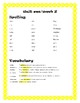 Reading McGraw-Hill Wonders Grade 4 Unit 1 Spelling and Vocabulary