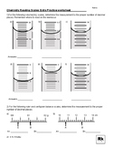 Reading Measurement Scales in Chemistry/Science-Example worksheet