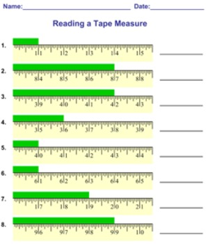 reading measuring a tape measure worksheets by mathnook tpt. Black Bedroom Furniture Sets. Home Design Ideas