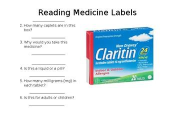 Reading Medicine Labels