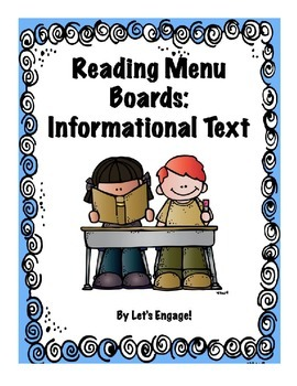 Reading Menu Boards: Informational Text