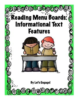 Reading Menu Boards: Informational Text Features