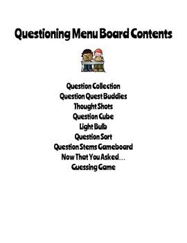 Reading Menu Boards: Questions
