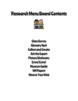 Reading Menu Boards: Research