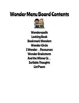Reading Menu Boards: Wonder!