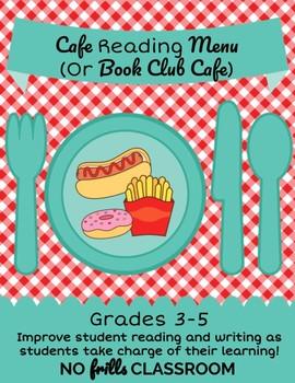 Reading Menu {Cafe Reading} Grades 3-5 Novel Study or Independent Reading
