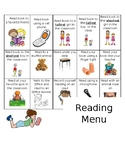 Reading Menu (Editable, Word Document)