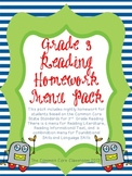 Reading Menu Homework Grade 3 **CCSS Aligned!**