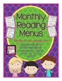 Reading Menu-Independent & Differentiated- Homework, Classwork, or Group Work!!