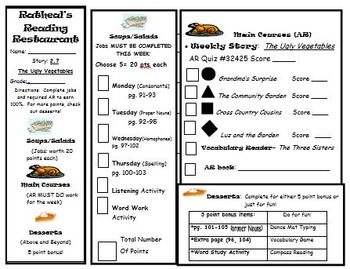 Reading Menu Journeys Lesson 7