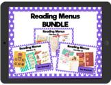 Reading Menus BUNDLE: Interactive PDFs