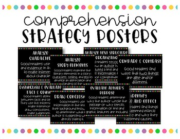 Reading Metacognitive Posters - Simple Bright Dots