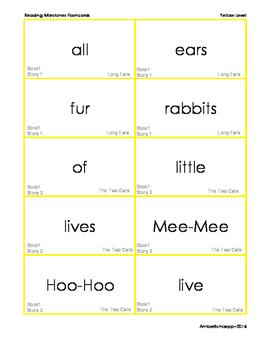 Reading Milestones Level 3 (YELLOW) Flashcards