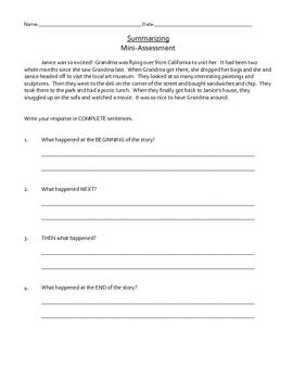 Reading Mini Assessments