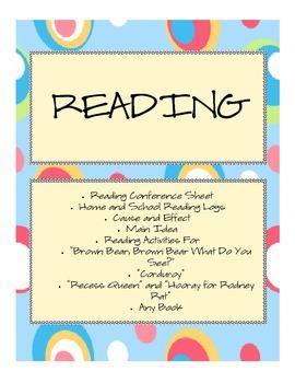 Reading Mini-Unit Activities