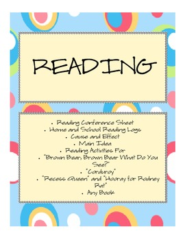 Reading Mini-Unit Activities