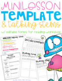 Reading Mini-lesson Template & Other Reading Workshop Form
