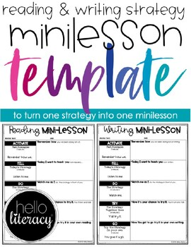 Reading Minilesson Template (& Writing, too)