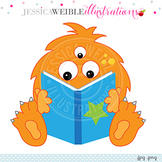 Reading Monster Clip Art