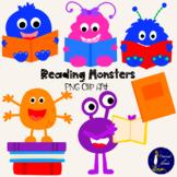Reading Monsters Clip Art