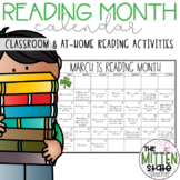 March is Reading Month Calendar & Reading Logs