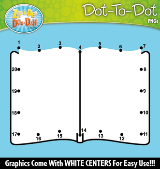 Reading Month Dot-To-Dot Clipart {Zip-A-Dee-Doo-Dah Designs}