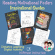 Reading Motivation Posters / Coloring Sheets (Chalkboard / Watercolor)