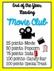 Reading Movie Club Incentives Posters