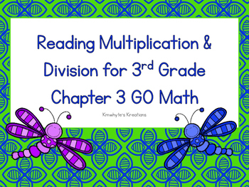 Reading Mulitplication & Division for 3rd Grade Review - GO Math