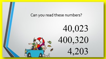 Reading Multi-digit Numbers PowerPoint:  six digits