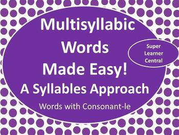 Reading Multisyllabic Words With Consonant -le