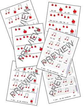 """Reading Music: """"Apple Tree"""" Touch Chart Bundle"""