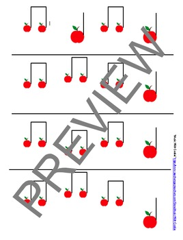"Reading Music: ""Apple Tree"" Touch Chart Version 4"