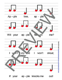 """Reading Music: """"Apple Tree"""" Touch Chart Version 5"""