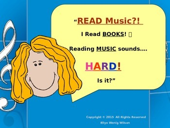 Reading Music ~ Music Staff ~ Part ONE