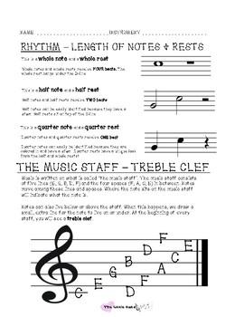Reading Music - Treble Clef