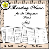 Reading Music for the Beginner, Part 2  Distance Learning