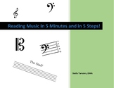 Reading Music in 5 Minutes and in 5 Steps!