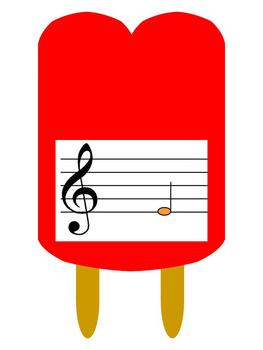 Reading Music is Cool Bulletin Board Kit or Music Workstation Popsicle Theme