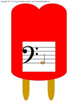 Reading Music is Cool Bulletin Board or Music Workstation BASS Clef Edition