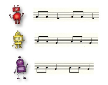 Reading Music with Robots: Stem Direction {Level One}