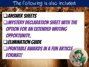 Reading Mystery: Comprehension, Cause & Effect, Finding Evidence in the Text +++