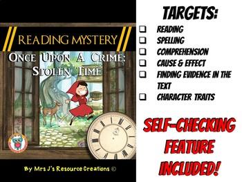 Reading Mystery: Reading Comprehension, Cause & Effect, Finding Evidence in Text