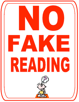 Guided Reading- NO Fake Reading Posters