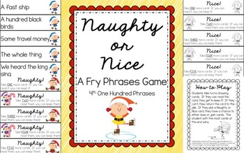 Reading - Naughty or Nice Fry Phrases Game (ALL SETS 1ST - 6TH)
