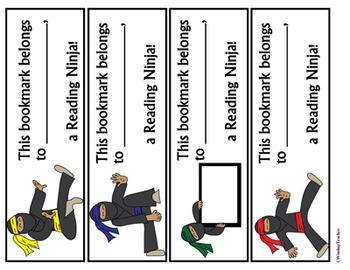 Reading Ninja Bookmark & Name Activity